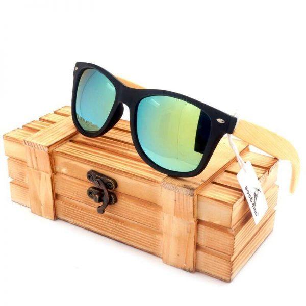 Bobo Bird Wooden Sunglasses Green
