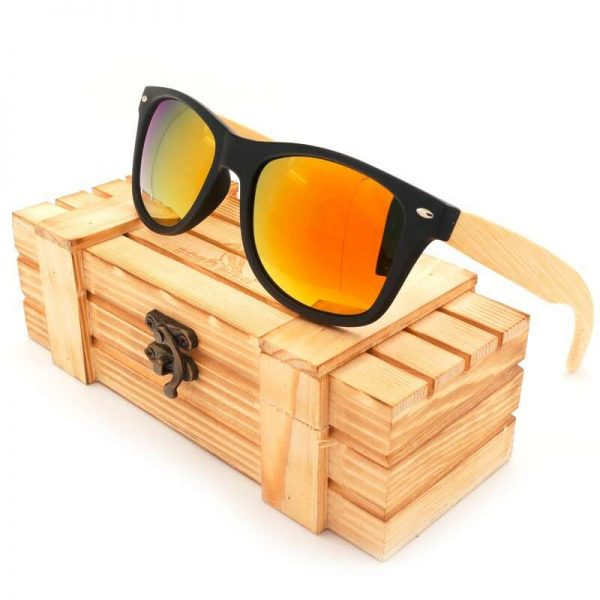 Bobo Bird Wooden Sunglasses Orange