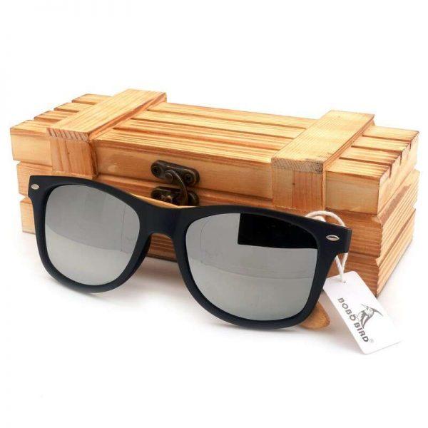Bobo Bird Wooden Sunglasses Silver