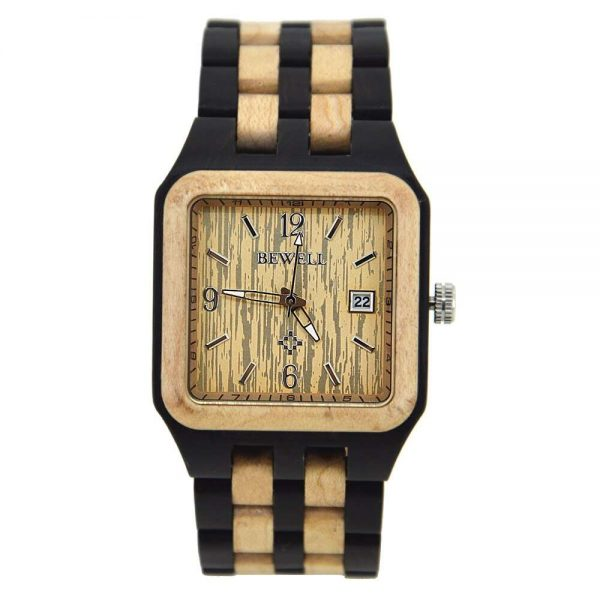 Bewell Chicago Mens Wooden Watch UK 2