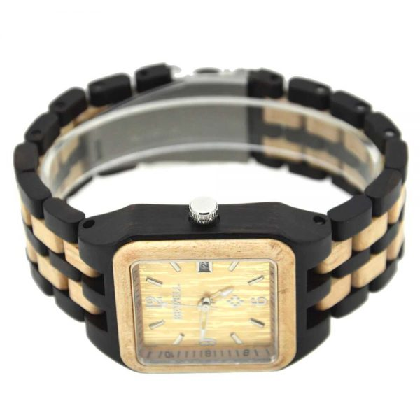 Bewell Chicago Mens Wooden Watch UK 6