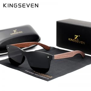 KingSeven Georgia Mens Wooden Sunglasses UK 10