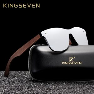 KingSeven Georgia Mens Wooden Sunglasses UK 11