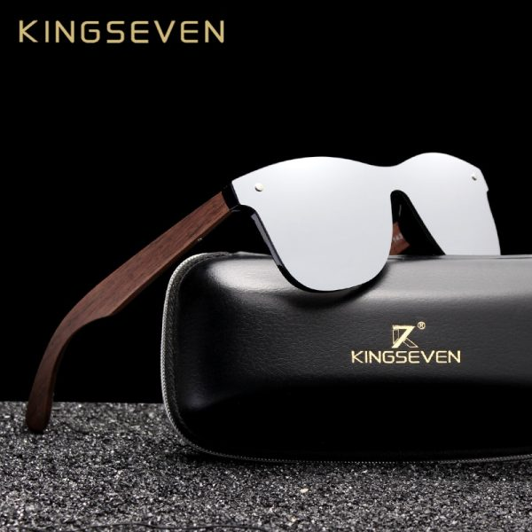 KingSeven Georgia Mens Wooden Sunglasses UK 11