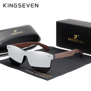 KingSeven Georgia Mens Wooden Sunglasses UK 13