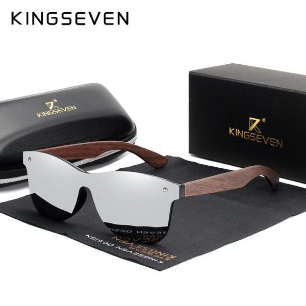 KingSeven Georgia Mens Wooden Sunglasses UK 13