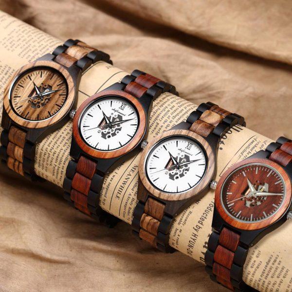 Shifenmei Alaska Mens Wooden Watch UK 4