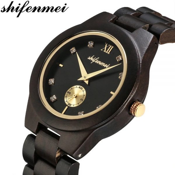 Shifenmei Essen Wooden Watch UK 1