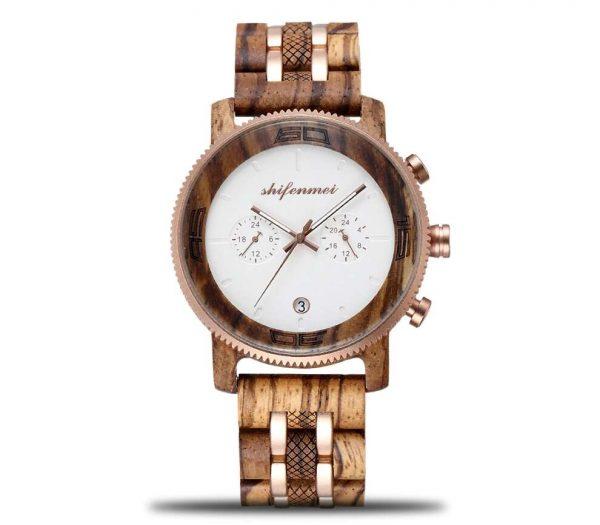 Shifenmei Palermo Mens Wooden Watch UK 10