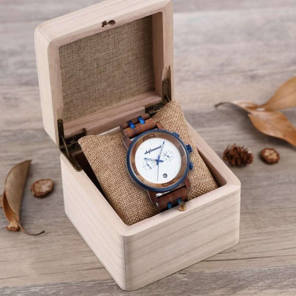 Shifenmei Palermo Mens Wooden Watch And Box Blue