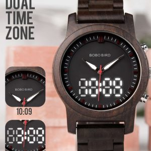 bobo bird dubai wooden watch uk dual display