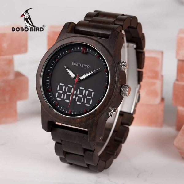 bobo bird dubai wooden watch uk view to the left