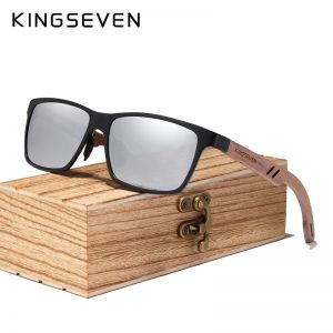 KingSeven Ohio Mens Wooden Sunglasses UK 1