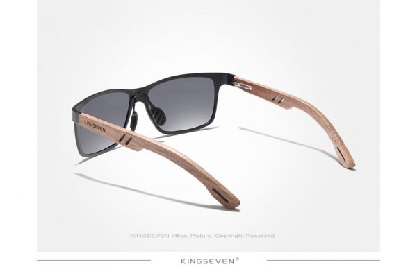 KingSeven Ohio Mens Wooden Sunglasses UK 2
