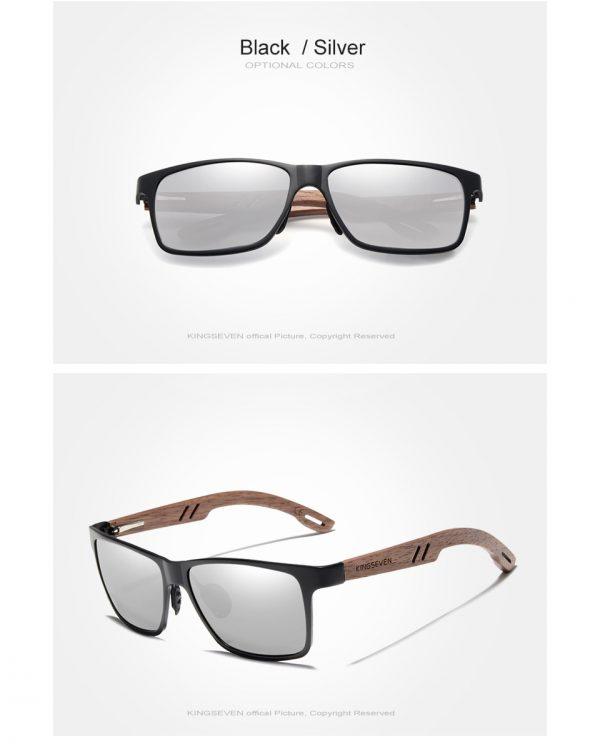 KingSeven Ohio Mens Wooden Sunglasses UK 3