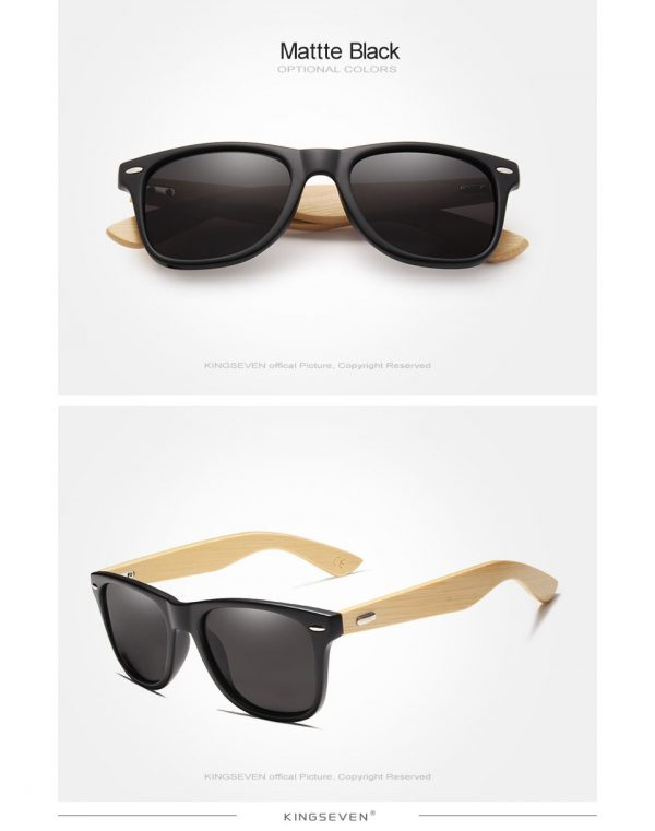 KingSeven Seine Wooden Sunglasses UK 1