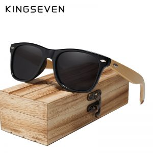 KingSeven Seine Wooden Sunglasses UK 4