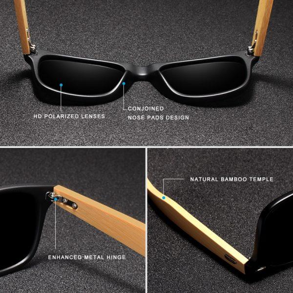 KingSeven Seine Wooden Sunglasses UK 5