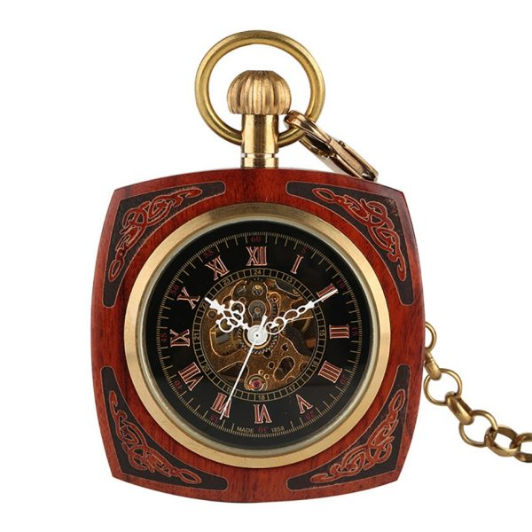The Lincolnshire Mens Wooden Pocket Watch UK 2