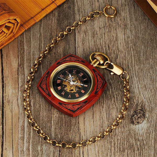 The Lincolnshire Mens Wooden Pocket Watch UK 6