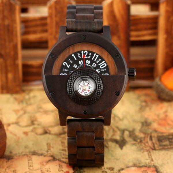 Timbr Sahara Mens Wooden Watch UK 1