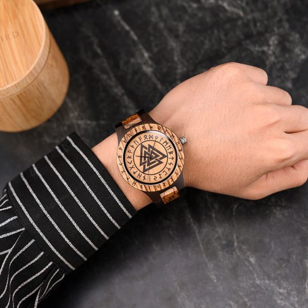 The Norsk mens wooden watch uk 13