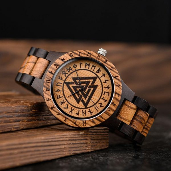 The Norsk mens wooden watch uk 15