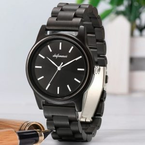 The Busan Mens Wooden Watch UK 1