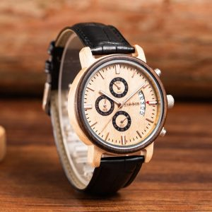 The Jakarta Mens Wooden Watch UK 3