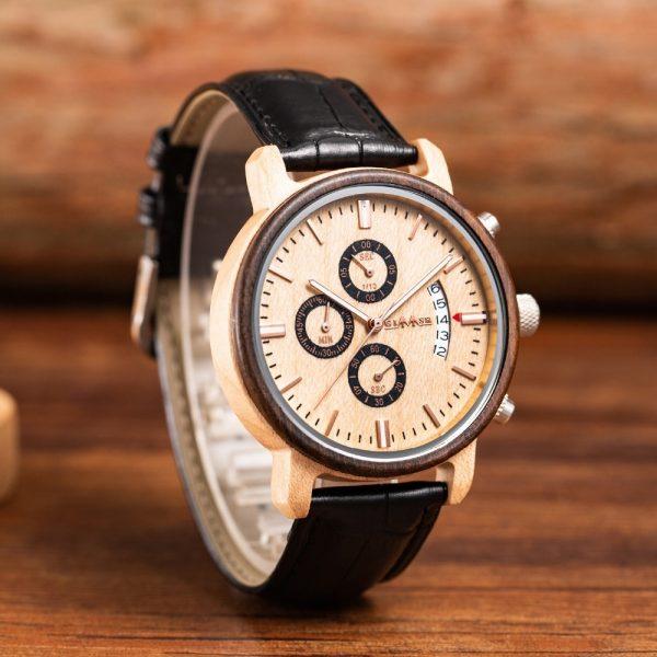 The Jakarta Mens Wooden Watch UK 3