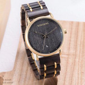 The Khartoum Mens Engraved Wood Watch UK 10