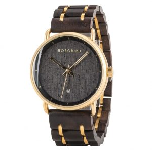 The Khartoum Mens Engraved Wood Watch UK 3
