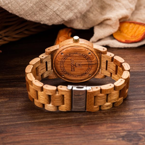 The Manila Womens Wooden Watch UK 8