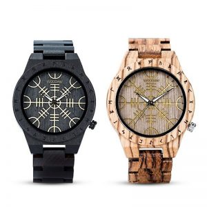 The Vegvisir Mens Wooden Watch UK 1