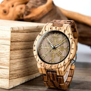 The Vegvisir Mens Wooden Watch UK 5